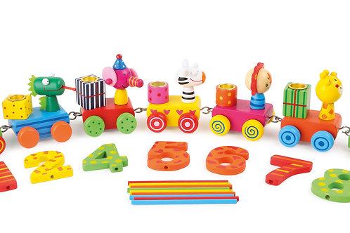 train, anniversaire, décoration, bougie, jouets de léa, jouets en bois