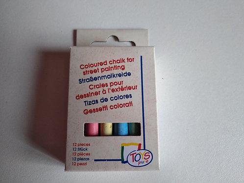 Craies de couleurs (boîte de 12)