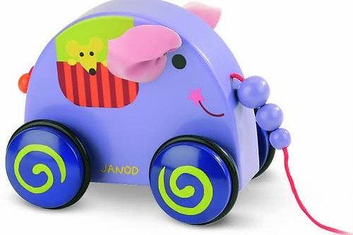 jouet à tirer, jouet à traîner, Janod, jouet en bois, jouets en bois, jouets de léa