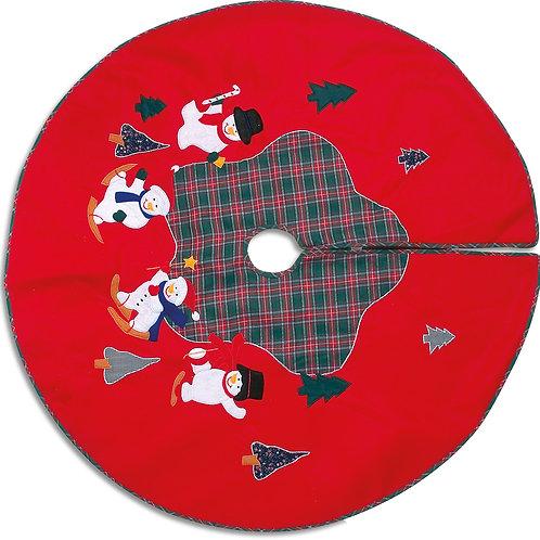 nappe sapin, décorer le pied du sapin, décoration, jouets en bois, jouets de léa