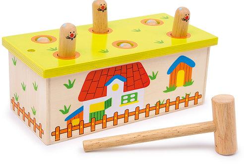 jouet à marteler, jouets montessori, jouets en bois, jouet en bois, jouets de léa