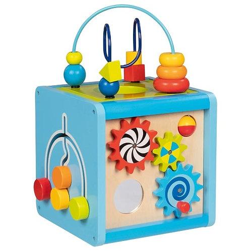 cube d'activité, jouets bébé, jouet motricité, jouets montessori, jouet en bois, jouets en bois, jouets de léa, goki