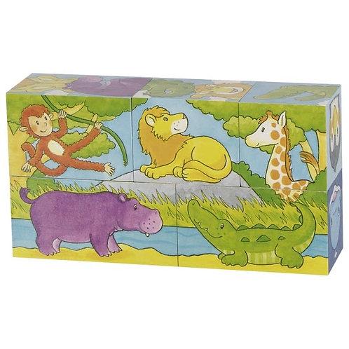 Puzzle 5 cubes savane et banquise.
