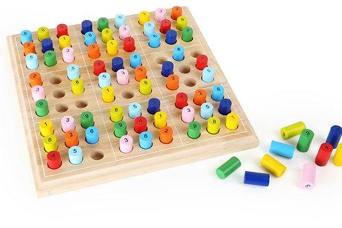 sudoku, jouet éducatif, jouets en bois, jouets de léa