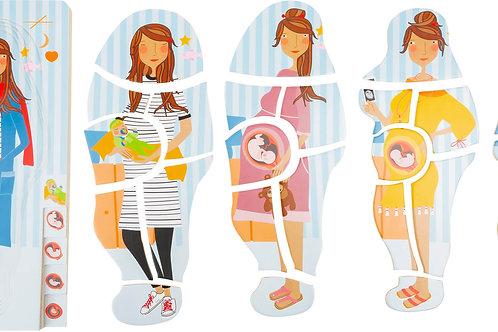 jouet montessori, puzzle à étages, puzzle à couches,découvrir le corps humain, anatomie garçon, jouets en bois, jouets de léa