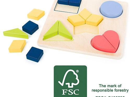 puzzle formes, apprendre les formes géométriques, jouet éducatif, jouets en bois, jouets de léa