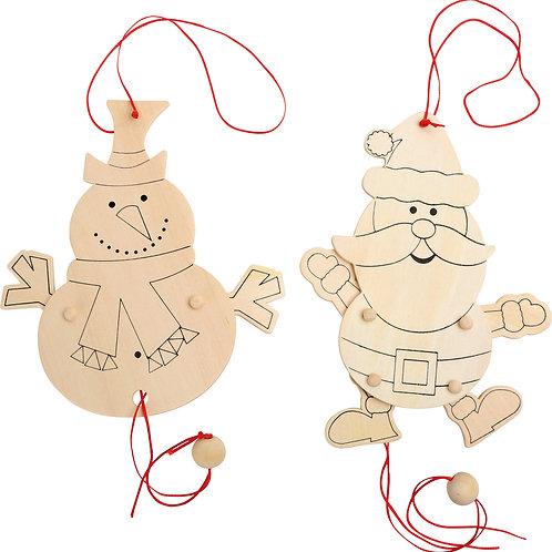 pantin, DIY, décoration, décoration à suspendre, jouets en bois, jouets de léa