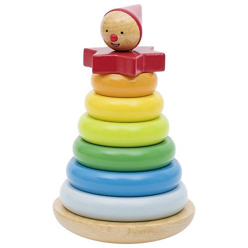 jouet à empiler, jouet montessori, jouet en bois, jouets en bois, jouets de léa, goki