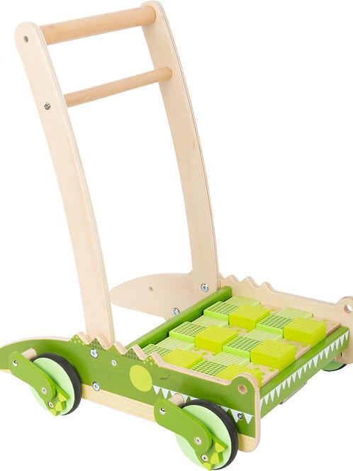 chariot de marche, small foot, jouet en bois, jouets en bois, jouets de léa