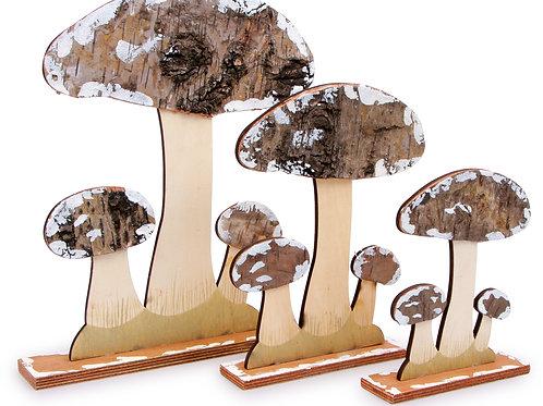 décoration, champignons, champêtre, jouets en bois, jouets de léa