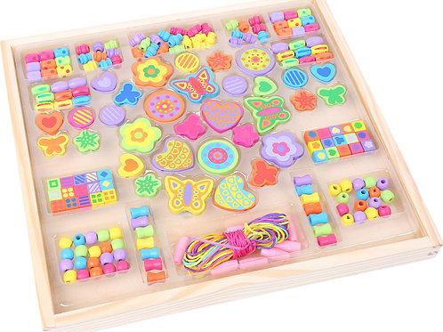 perles en bois, jouets en bois, jouets de léa
