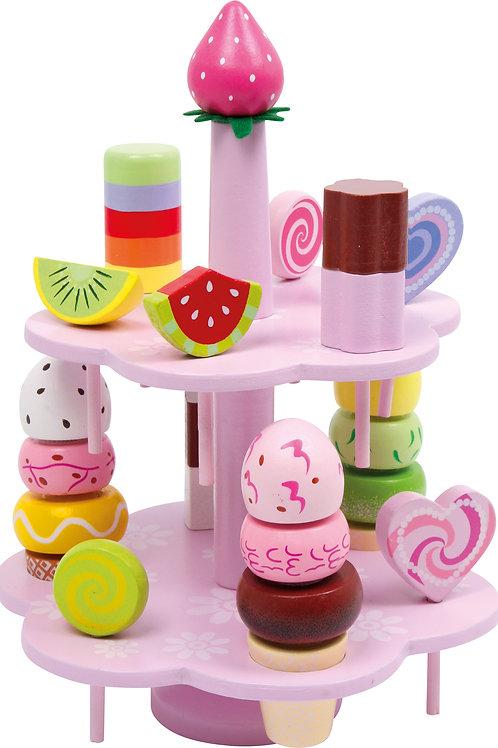 présentoir à glaces, dinette, jouets en bois, jouets de léa