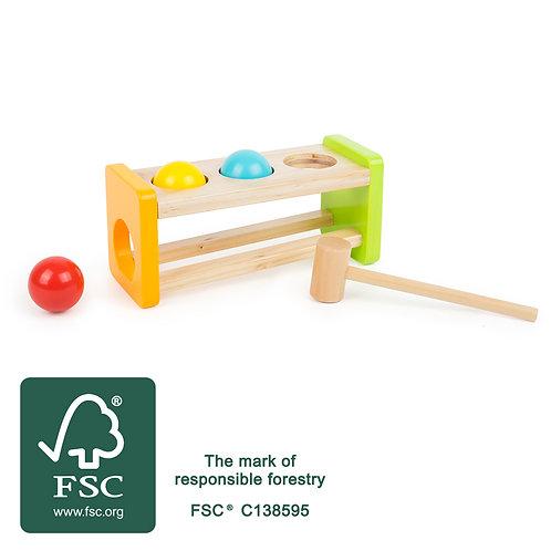jouet à marteler, jouet en bois, jouets en bois, jouets de léa, jouets montessori, jouet montessori