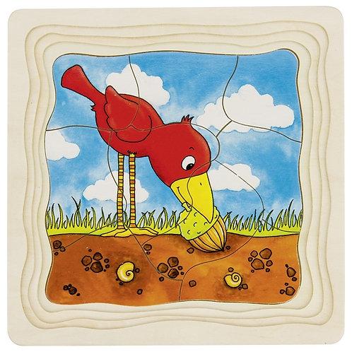 jouet montessori, puzzle à étages, puzzle à couches, jouet en bois, jouets en bois, goki, jouets de léa