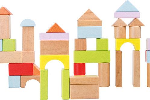 bloc de construction, jouets en bois, jouets de léa