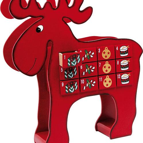 calendrier de l'avent, élan, décoration de noël, jouets en bois, jouets de léa