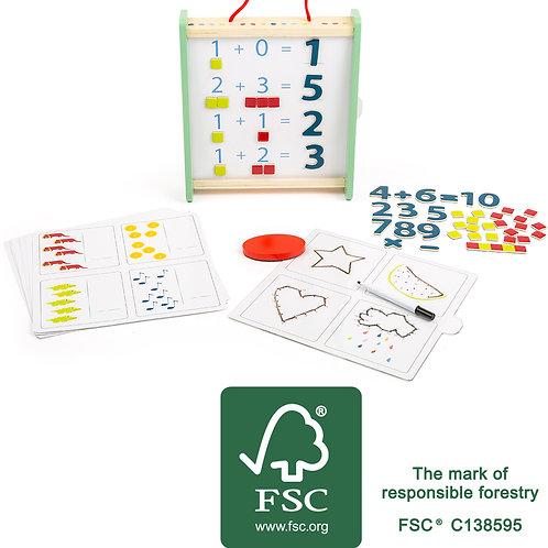 boîte d'apprentissage, apprendre à compter, jouets en bois, jouets de léa