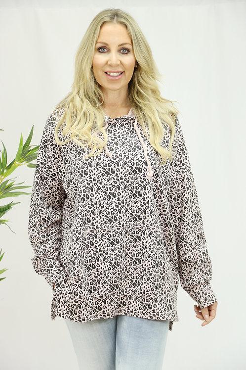Ditsy Print leopard Hoodie