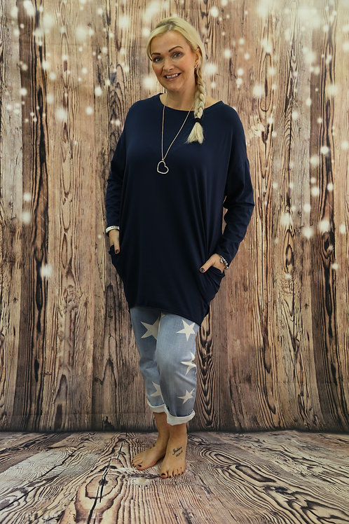Amy long sleeved necklace top