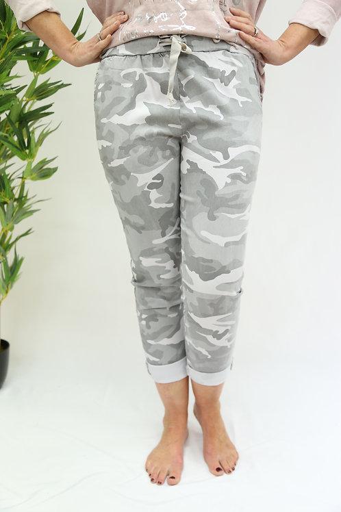 Silver Grey Camo Magic Pants