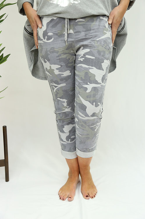Light Grey Camo - Glitter Stripe Magics
