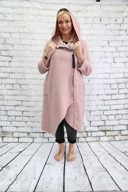 Long Hooded Teddy Coat