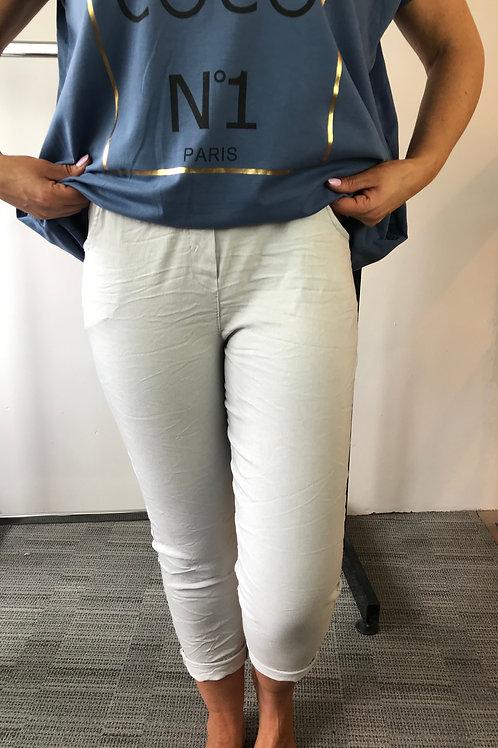 Light Grey Plain Magic Trousers