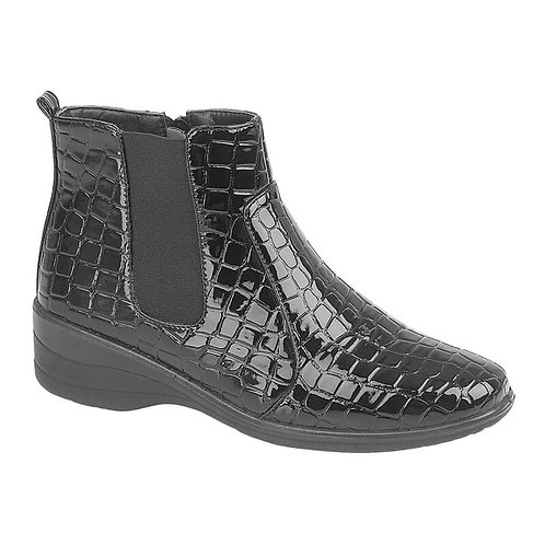 Maple Black Croc Boot