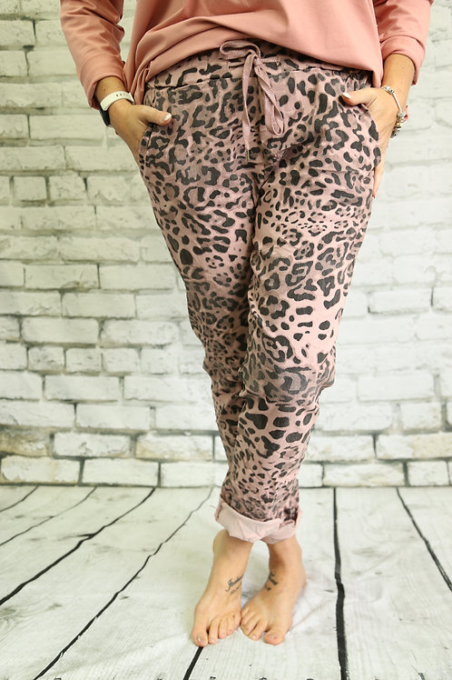 Leopard print magic trousers