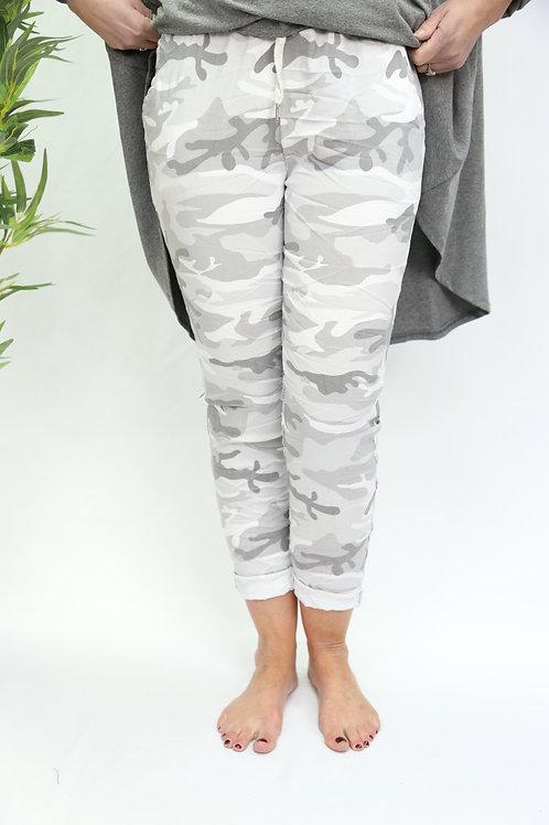 White camo magic pants