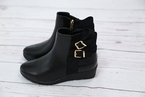 Croc Heel Wedged Boot