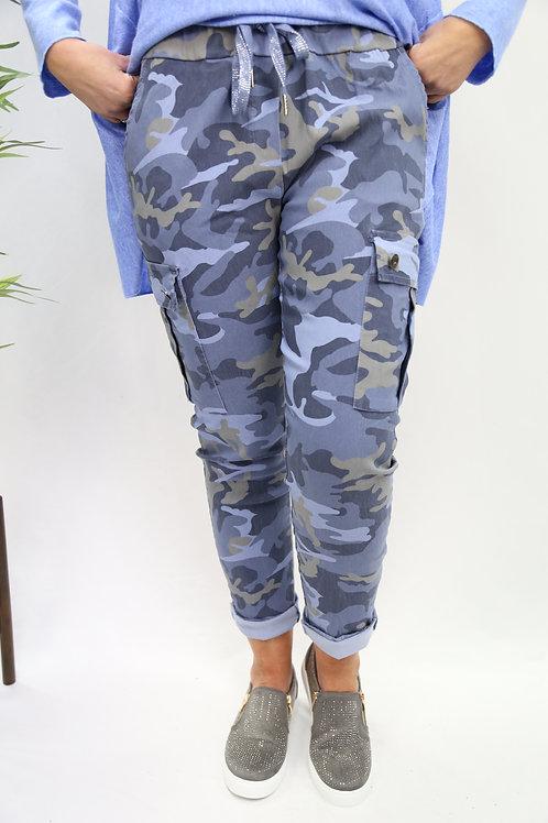 Camo Magic Cargo Pant - Blue
