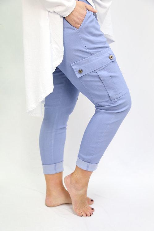 Magic Cargo Pant Denim Blue
