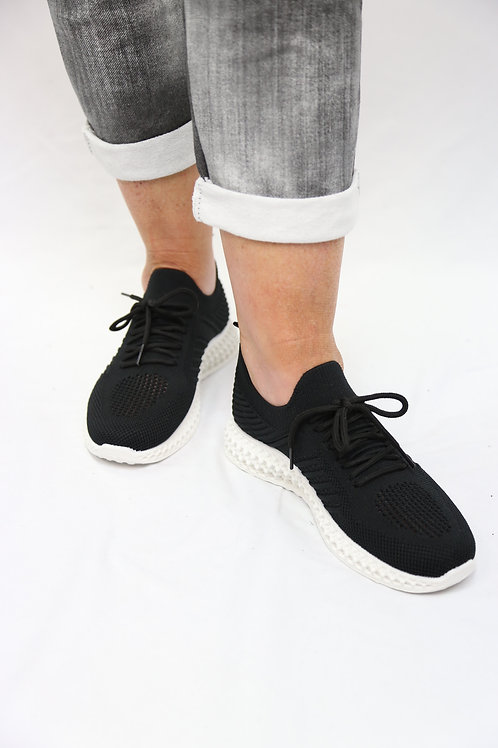 Black Premium Knit Trainer
