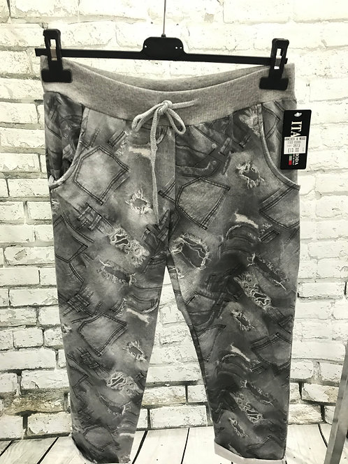 Grey rip style Joggers