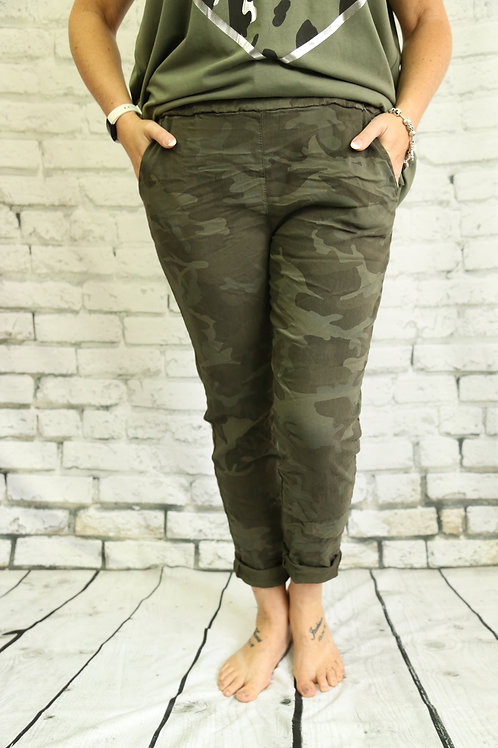 Khaki Camo Magic Trousers