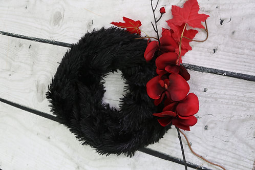 Fluffy Black Snood