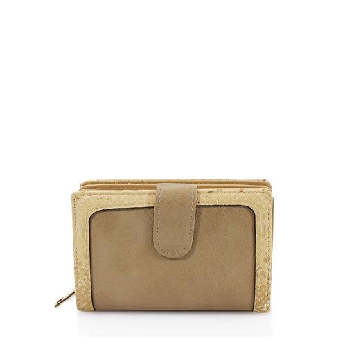 Snakeskin edge purse