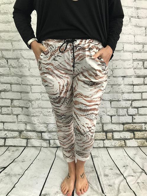 Brown Animal Print Magic Pants