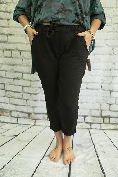 Plain Black Magic Trousers