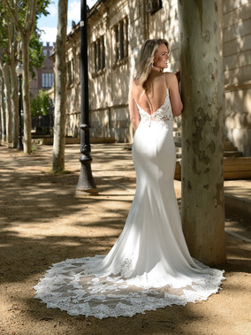 Gaia Bridal's Seraphina Crepe Wedding Dress (renamed from Catherine Parry Bridal)