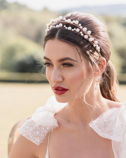 Victoria Percival Petite Pearl Headband