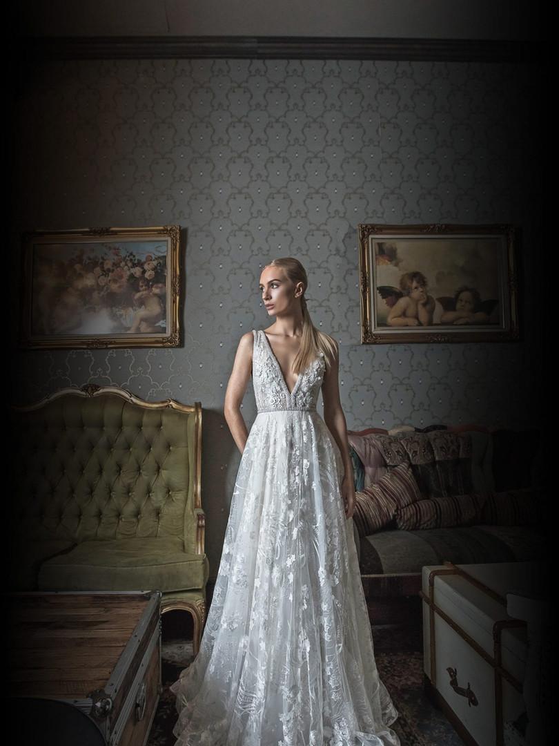 Zavana Bridal 3D Embellished Gown