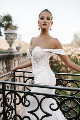 Bardot Lace Wedding Dress