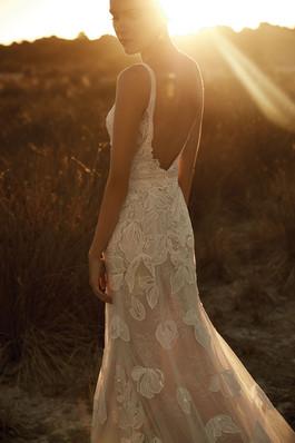Zavana Blush Statement Flora Wedding Gown