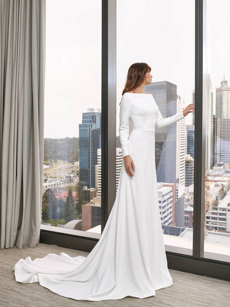 Cizzy Long Sleeve Classic Cut Gown