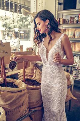 Zavana Bridal Lace Scallop Wedding Dress
