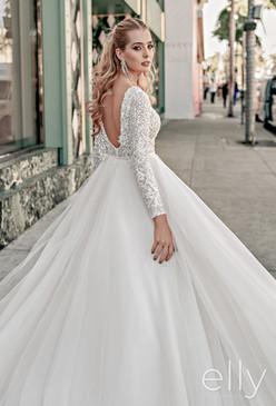 Elly Bride's Sandra Long-Sleeved Wedding Dress