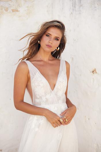 White April Dandelion Dreams Tulle ALine Gown
