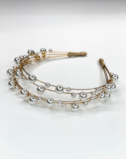 Petite Pearl Headband- Gold or Silver